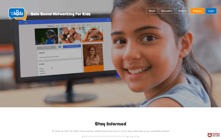 Y2Kidz website design