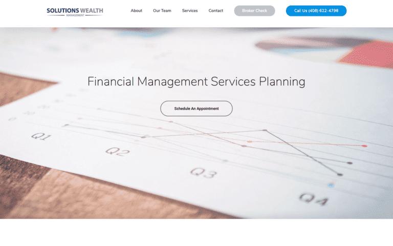 Solutions Wealth Management website design