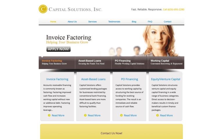 Capital Solutions, Inc. website design