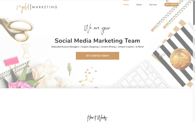 So Gold Marketing website design