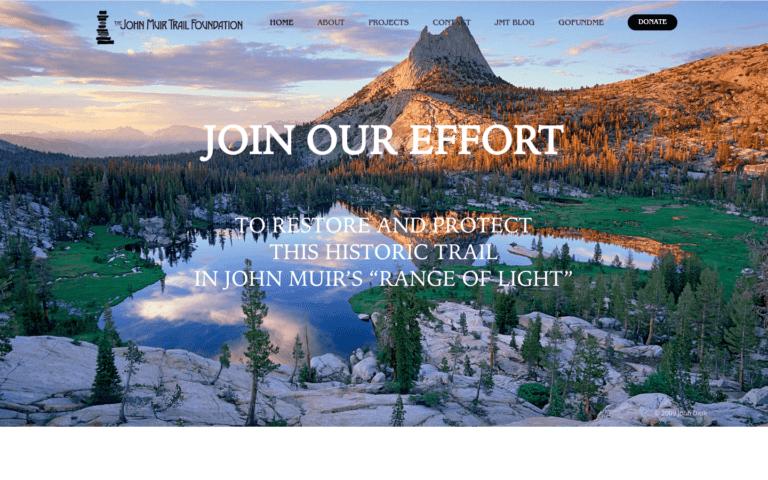 John Muir Trail Foundation website design