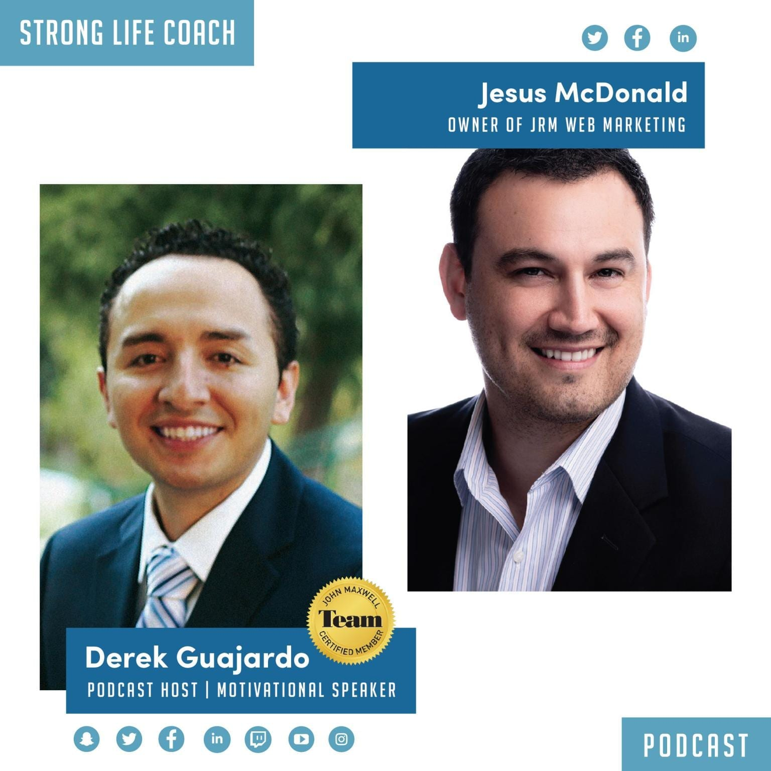 Photography of Podcast episode CEO Jesus McDonald talks about starting a business